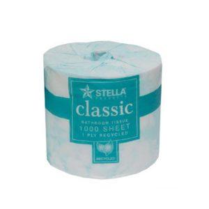 Stella 1000CL 1Ply 1000 Sheet Toilet Tissue