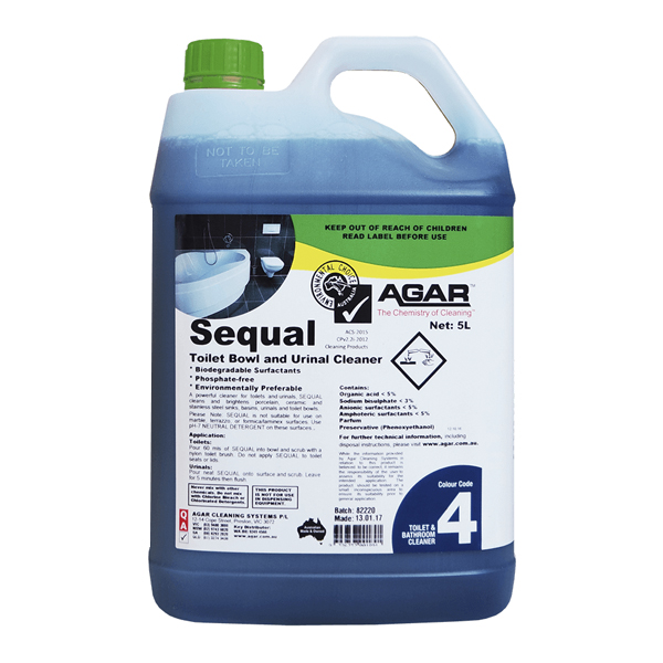 Agar Sequal Toilet Bowl and Urinal Cleaner 5L